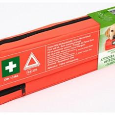 Kit siguranta auto 450x140x50 mm contine: Trusa sanitara , Triunghi reflectorizant si Vesta reflectorizanta verde