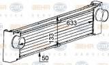 Radiator intercooler MERCEDES VITO bus (W639) (2003 - 2016) HELLA 8ML 376 723-521