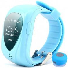 Ceas Smartwatch GPS Copii iUni U11,Telefon incoporat, Alarma SOS, Blue + Boxa Cadou