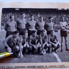 Foto (anul 1966) fotbal - ITALIA adversara nationalei Romaniei la Napoli