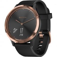 Smartwatch Vivomove HR Roz Auriu Si Curea Neagra, Garmin