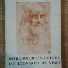 INTRODUCERE IN METODA LUI LEONARDO DA VINCI de PAUL VALERY , 1969