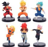 Set figurine Dragon Ball Z Super Goku Vegetto Zamasu Rose GT 11 cm