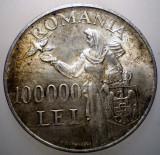 R.201 ROMANIA MIHAI I 100000 LEI 1946 XF ARGINT 25g