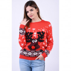 Pulover Vero Moda Snowy Deer Chinese Red