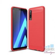 Husa Samsung Galaxy A7 2018 TPU Carbon Rosie