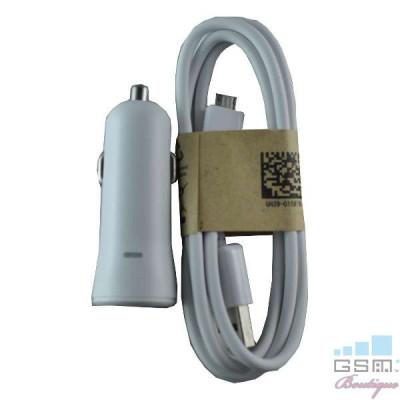 Incarcator Auto HTC One M8 USB Alb foto