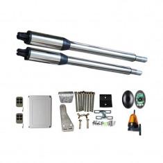 Kit Automatizare Porți Batante 200kg/brat cu Fotocelule si Lampa Telecomanda