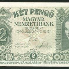u046 UNGARIA BANCNOTA DE 2 PENGO 1940 PERFECT UNC