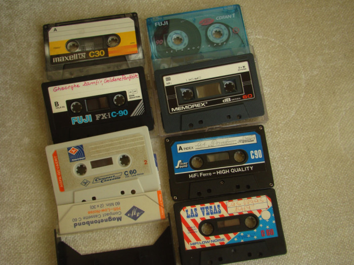 Lot 7 Casete Audio Fuji, Maxell, Agfa, Memorex - Stare buna - 3