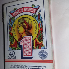 Carti joc vintage originale,CARTI DE JOC FOURNIER NAIPE HERACLIO ,T.GRATUIT