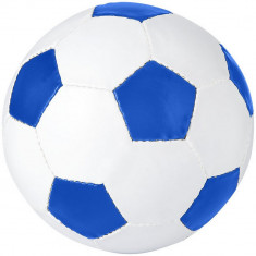 Minge de fotbal, marime 5, Everestus, CE01, pvc, alb, albastru, desfacator de sticle inclus