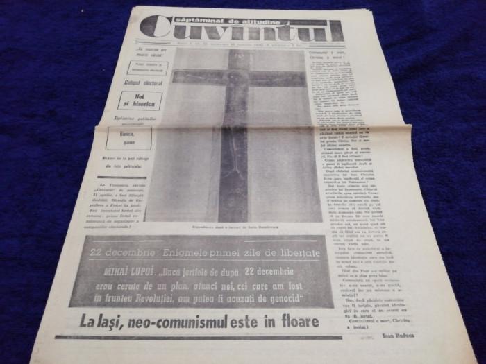 ZIARUL CUVANTUL  NR 12 8 APRILIE   1990