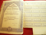 Titlu Nominativ de 100 Actiuni a 1000 lei -Societatea Nationala de Credit Indust