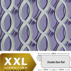 Tapet violet model retro cu finisaj metalic evidentiat 601-92