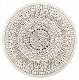 Covor Modern & Geometric Twin, Rotund, Negru, 200x200, Bougari