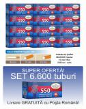 Ofertă! 6.600 Tuburi de tigari cu filtru maro Senator Popular 550 pentru tutun