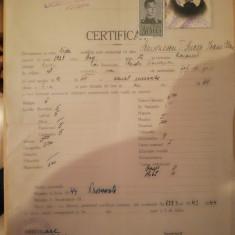 Certificat studii, Liceul de fete Focșani, 1944, Lucia T Simionescu, Comănești