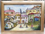 Tablou Peisaj de Mahala pictura in ulei pe panza inramat 59x77cm