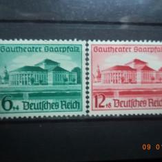 1938  Germania ( Reich ) Mi 673 - 674  Serie completa**, Nestampilat