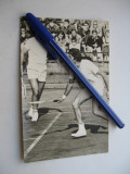Carte postala sport - Ilie Nastase si Ion Tiriac, editata de FRT, anii 70