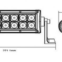 LED Bar Auto Offroad 36W/12V-24V, 2640 Lumeni, 7,5″/19 cm, Spot Beam 12 Grade