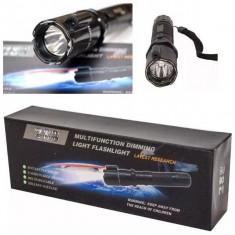 Lanterna autoaparare multifunctionala cu electrosoc si laser