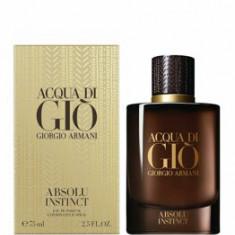 Apa de parfum Giorgio Armani Acqua di Gio Absolut Instinct, 75 ml, pentru barbati
