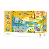 Puzzle - Animale din Africa - 18 piese, Dodo