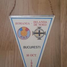 Fanion Romania- Irlanda de Nord 16 octombrie 1985, Bucuresti