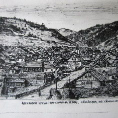 Alexandru Ursu-Bukowina - Vedere Cârlibaba, județul Câmpulung, interbelic