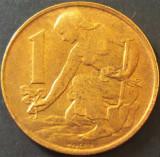 Moneda 1 COROANA - RS CEHOSLOVACIA, anul 1990 *cod 3184 = A.UNC, Europa