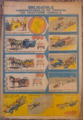 Afis Obligatiile conducatorului de vehicule cu tractiune animala foto