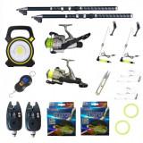 Cumpara ieftin Pachet pescuit sportiv cu 2 lansete 3m Ultra Carp, 2 mulinete, proiector si accesorii