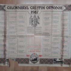 Calendar vechi Crestin Ortodox 1987