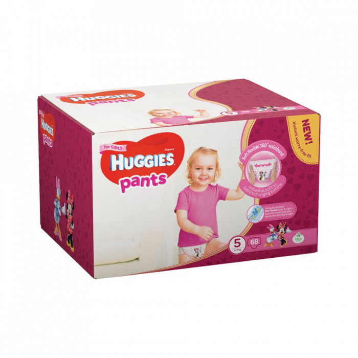 Scutece-chilotel Pants Huggies Box Nr.5, Fetite, 12-17 kg, 68 buc