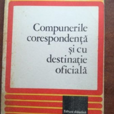 Compunerile corespondenta si cu destinatie oficiala- Vasile Teodorescu