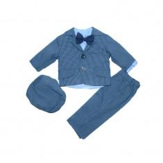 Costum botez 5 piese baieti Micul Vip MCV2, Albastru