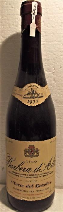 A 49- VIN BARBERA D'ALBA, DOC, recoltare 1971 CL 72 GR 13
