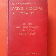 HAMANGIU CODUL GENERAL A ROMANIEI Legi  ×   Vol XV XVI an 1929