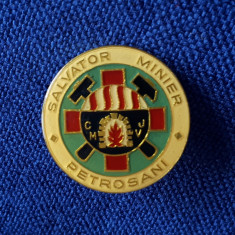 Insigna Salvator Minier Petrosani - Tema evidentiat - merite - fruntas