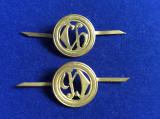 Insigne militare - Insigne România -Semne de armă - Chimic vechi (culoare aurie)