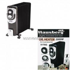 Calorifer Electric 9 Elementi cu ulei 2000W Hausberg HB8910