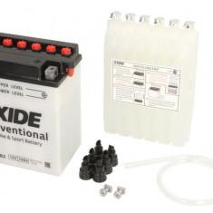 Baterie moto Acid cu intretinere EXIDE 12V 14Ah 145A R+ aerisire dreapta 134x89x166 Incarcare uscata cu acid