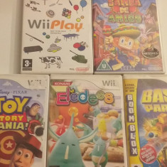 LOT 5 jocuri - Eledees - Samba - Toy Story - Nintendo Wii [Second hand], Board games, 3+, Multiplayer