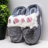 Papuci dama de casa gri Cuisia-rl