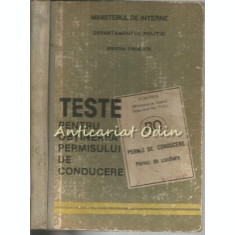 Teste Pentru Obtinerea Permisului De Conducere - Ministerul De Interne