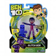 Figurina Ben 10 Glitch Ben, 12 cm, 3 ani+