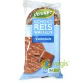 Vafe din Orez Expandat cu Ciocolata si Lapte Integral Ecologice/Bio 100g