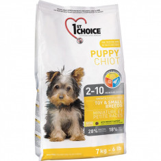 Hrana uscata pentru caini 1st Choice Talie mica & Toy, Puppy, 7kg